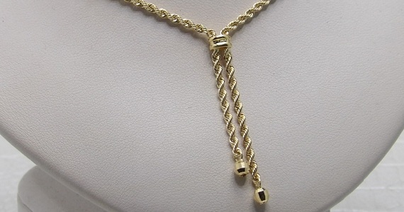 Collier Or 18 Carats Corde & Boules
