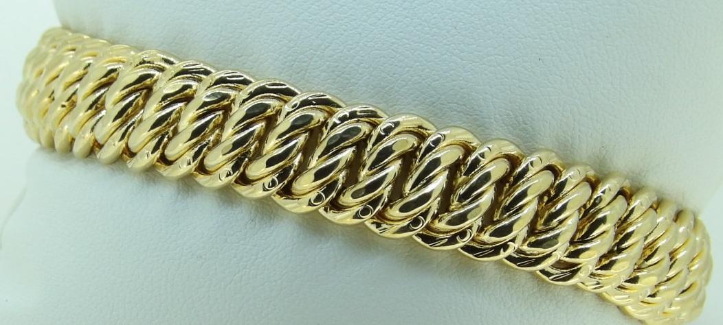 bracelet-or-18 carats-maille américaine