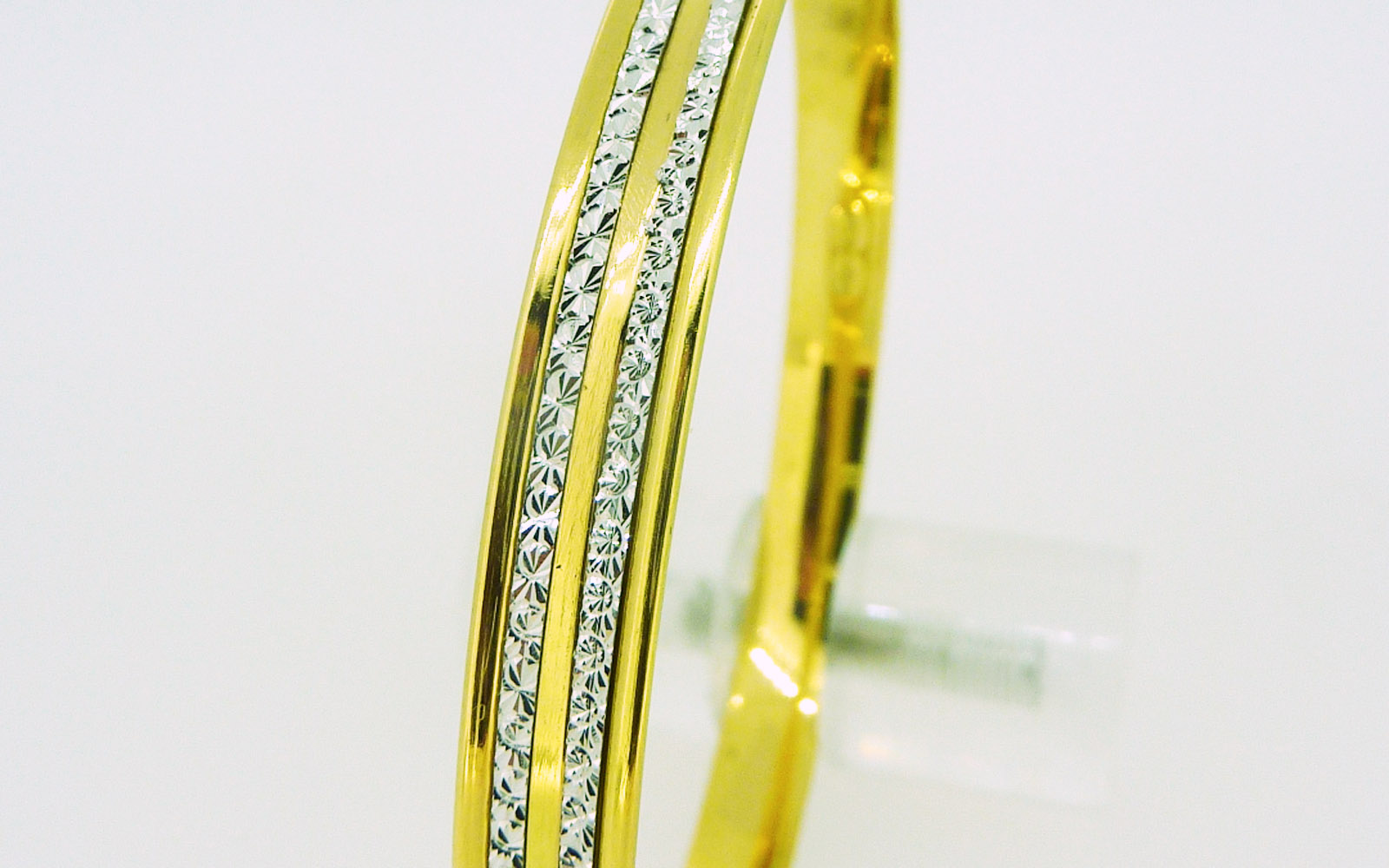 Bracelet Rigide Or 18 Carats  Bi Color