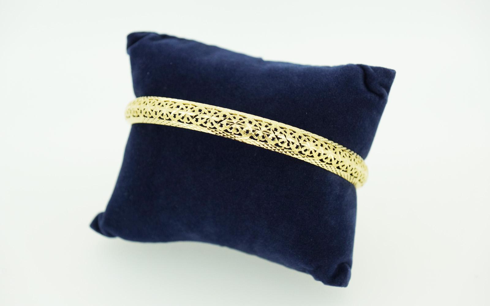 Bracelet Jonc Massif Or 18 Carats