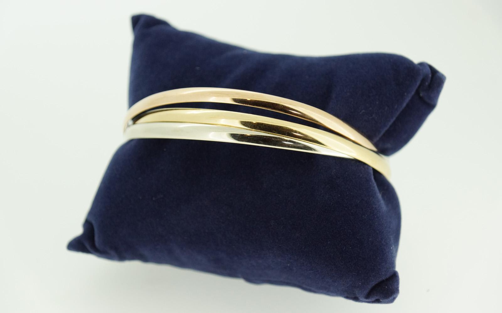 bracelet jonc massif 3 ors jouvenel