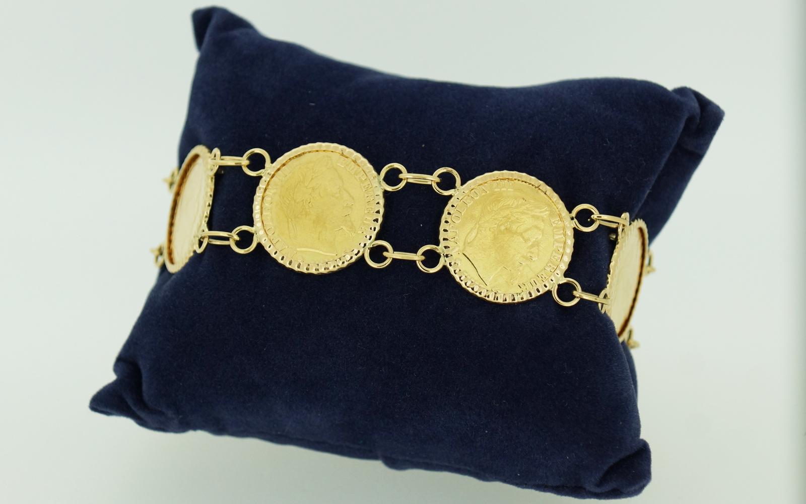 bracelet pieces 10 francs-napoleon bijouterie jouvenel