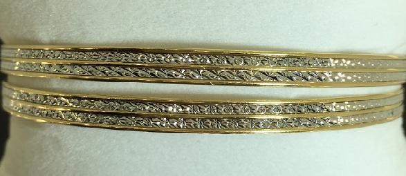 bracelets rigides or 18 carats