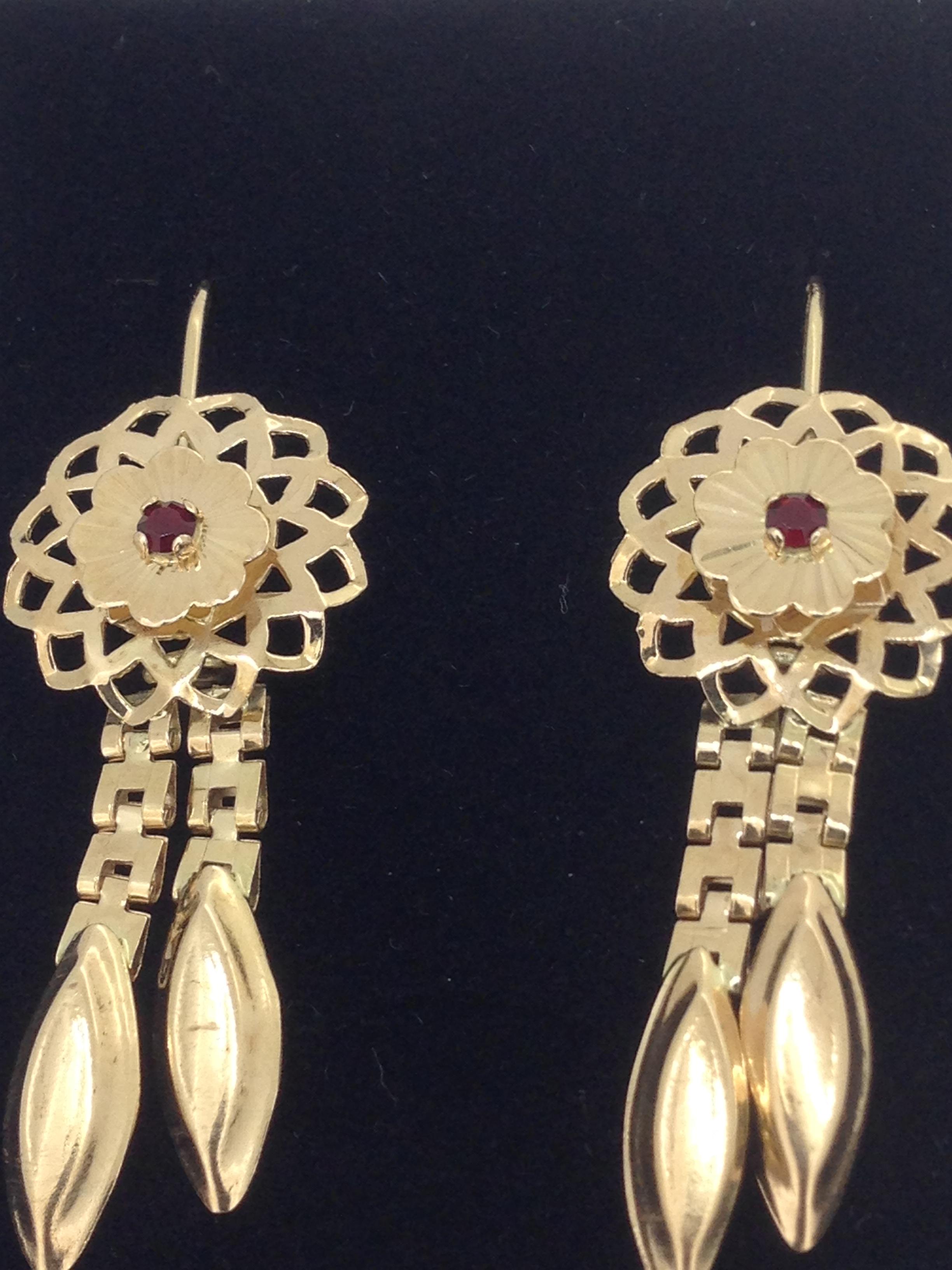 Boucles d'oreilles orientale or 18 carats