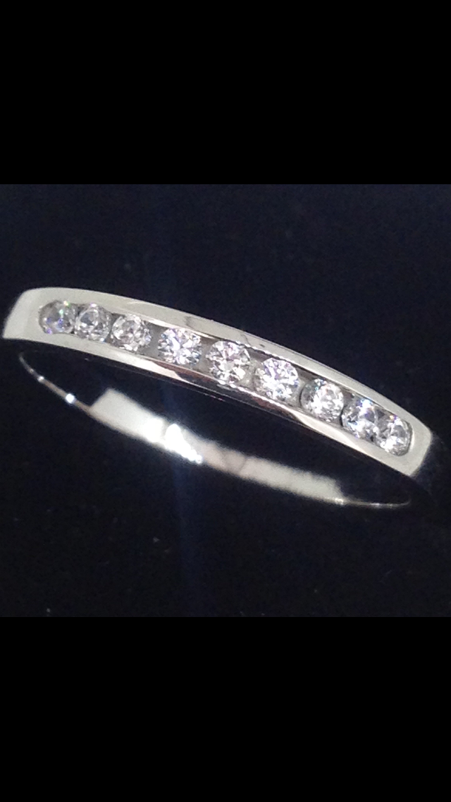 Alliance Or Blanc 18 Carats Oxydes