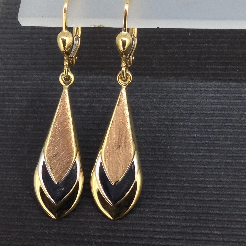 Boucles d'oreilles brisure or 18 carats