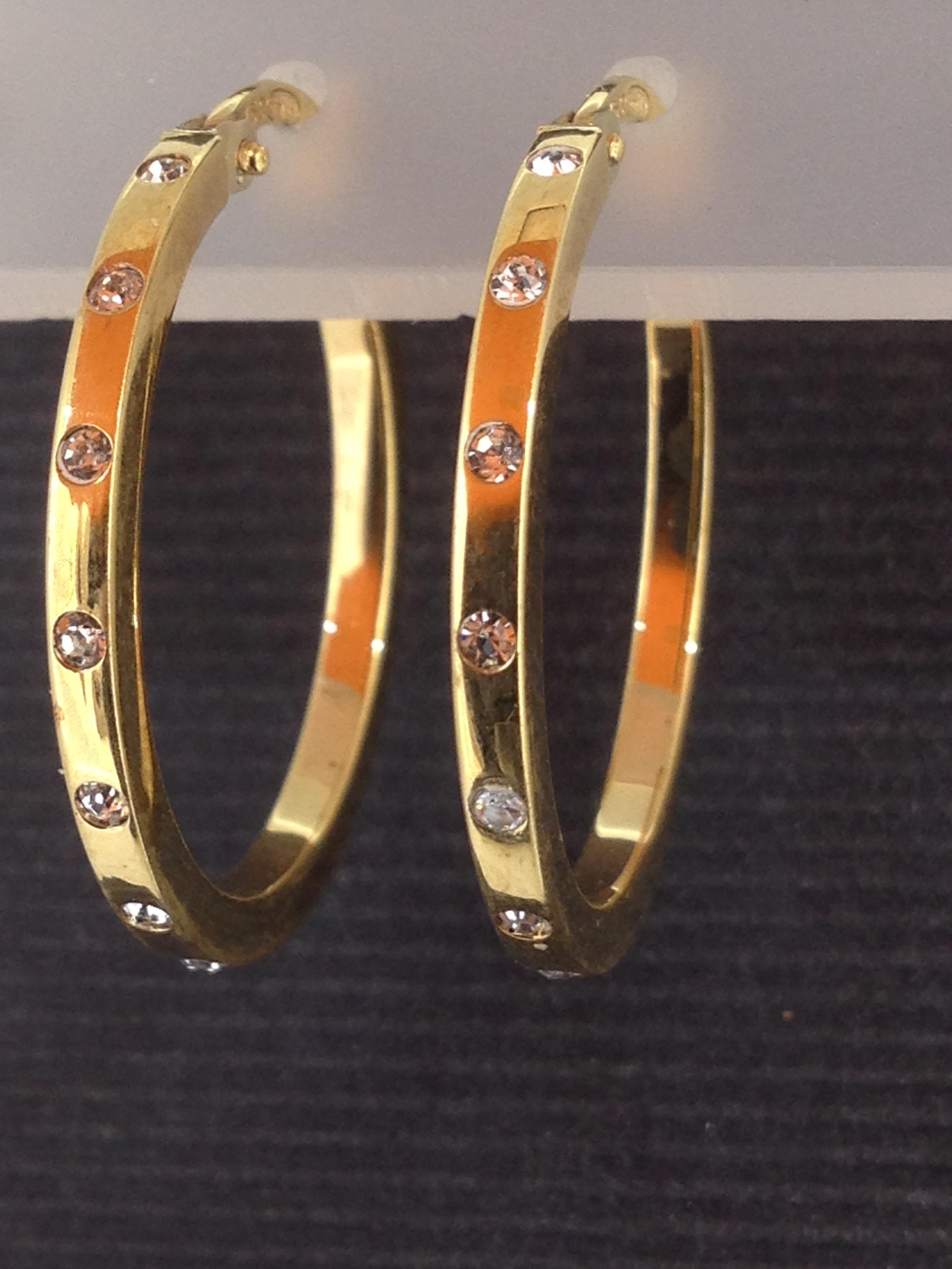 Boucles D'oreilles Créole Or 18 Carats Oxydes