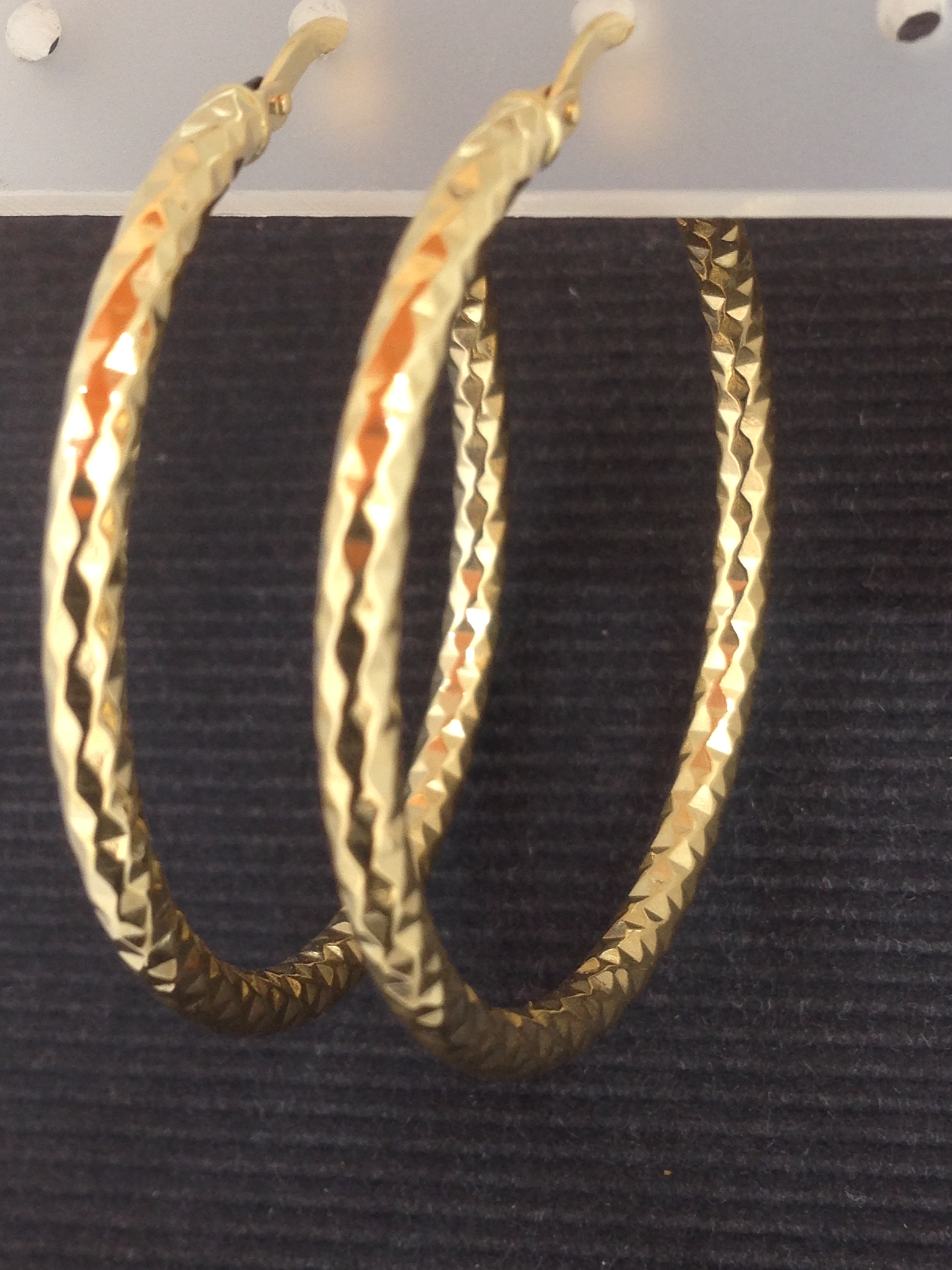 Boucles d'oreilles créole or jaune 18 carats