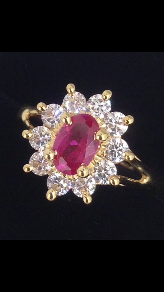 Bague or 18 carats oxydes