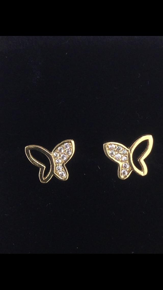 Boucles d'oreilles puce oxydes or 18 carats