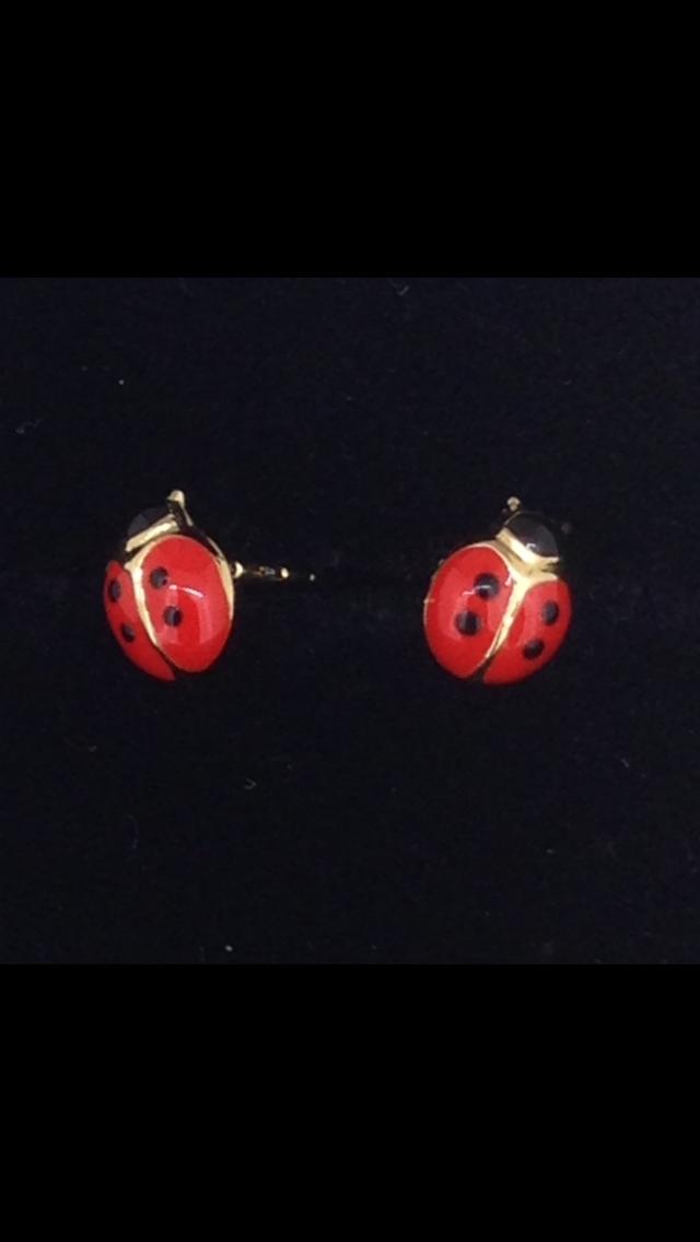 Boucles d'oreilles puce or 18 carats