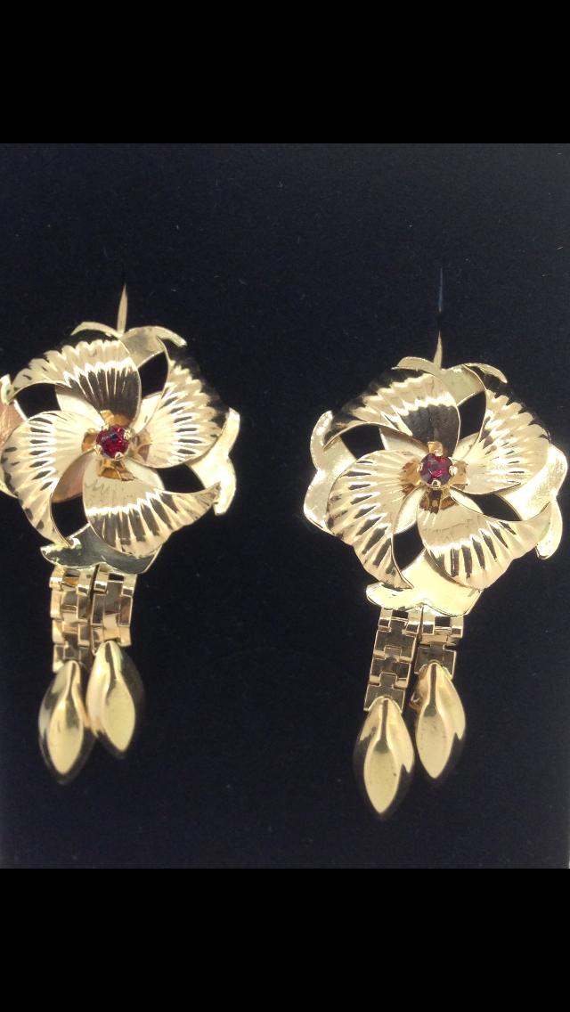 Boucles d'oreilles orientales or 18 carats