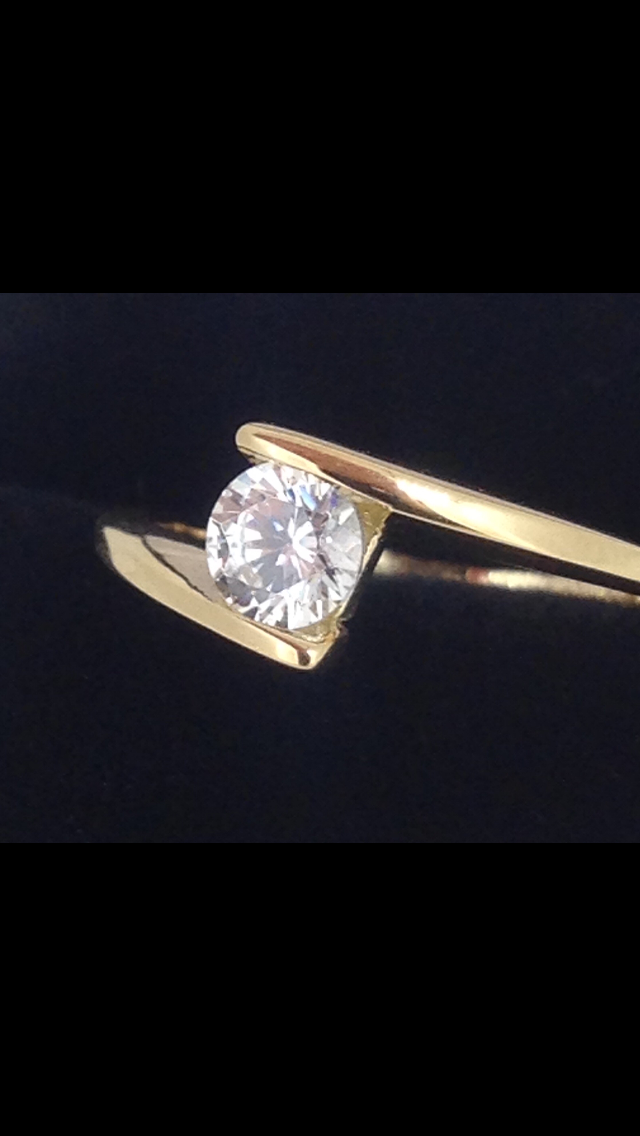 Solitaire Or Jaune 18 Carats Oxyde
