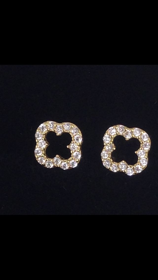 Boucles d'oreilles puce or 18 carats oxyde