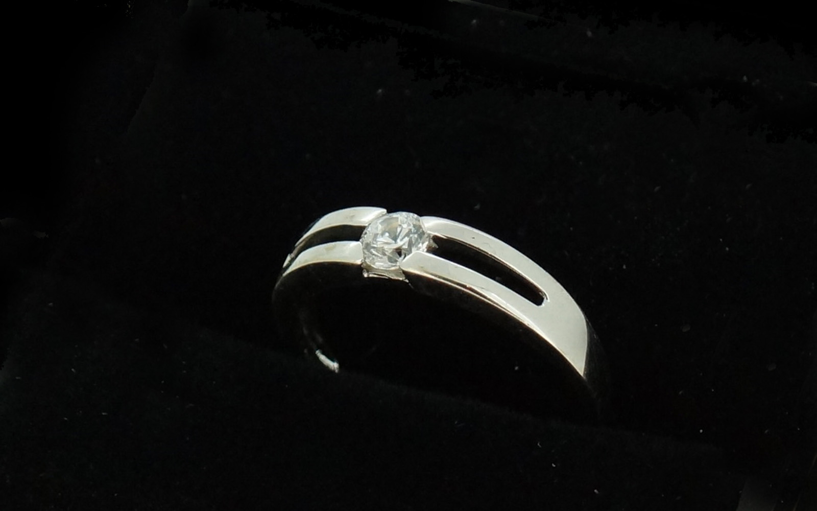 bague or blanc double rang