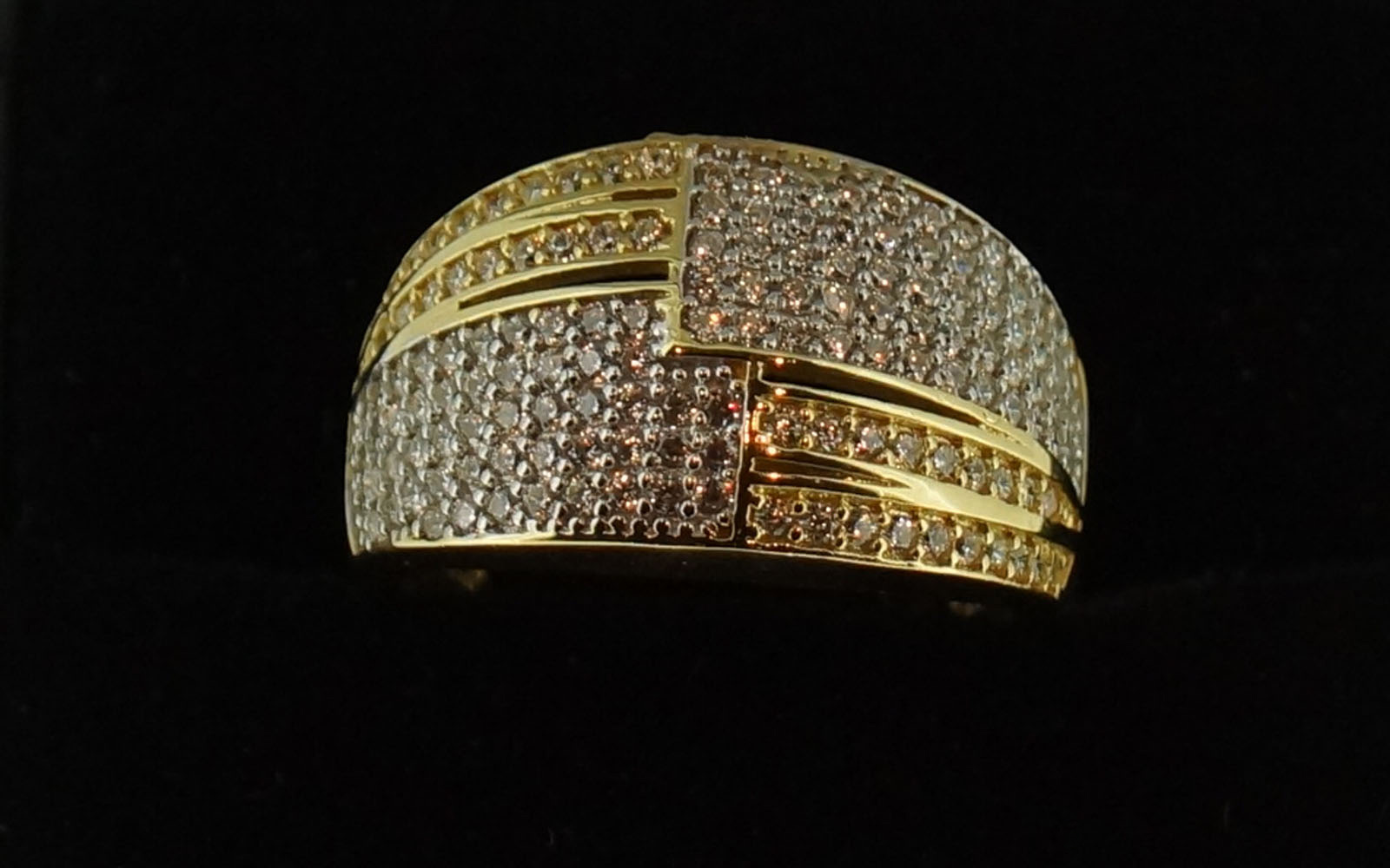 Bague Or 18 Carats Oxyde Bicolor