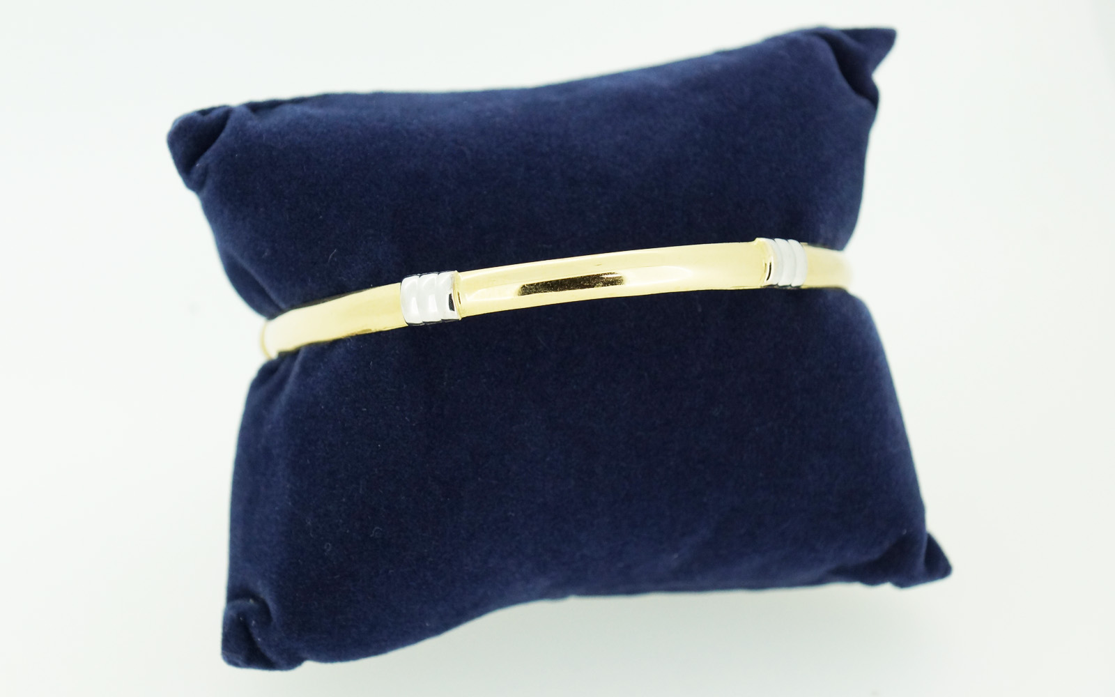 Bracelet Rigide Massif Or 18 Carats Bi Color