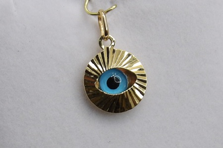 Pendentif Oeuil Or 18 Carats