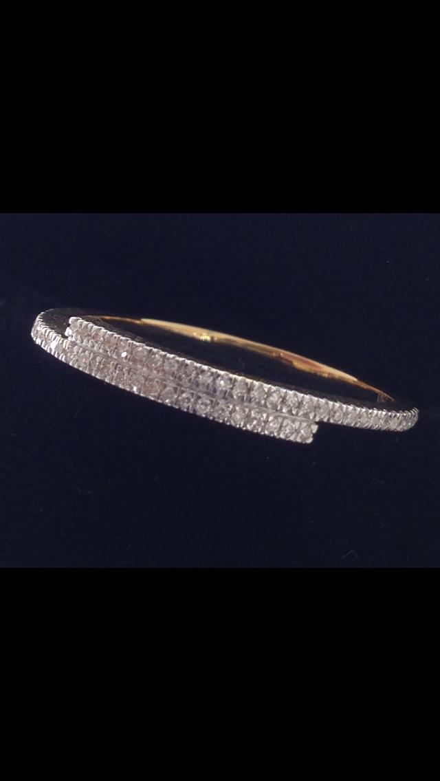 Bague diamants or 18 carats