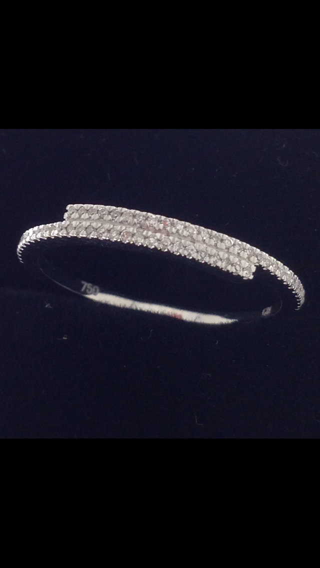 Bague Diamants Or Blanc 18 Carats