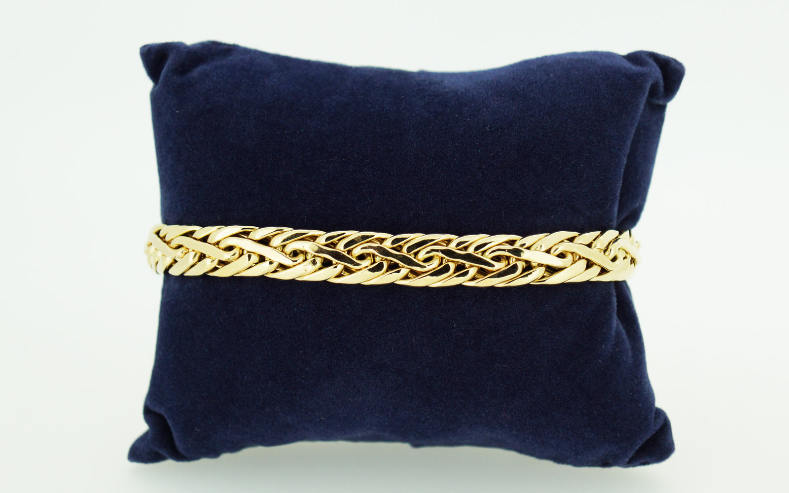 Bracelet Maille Palmier Bi Color Or 18 Carats