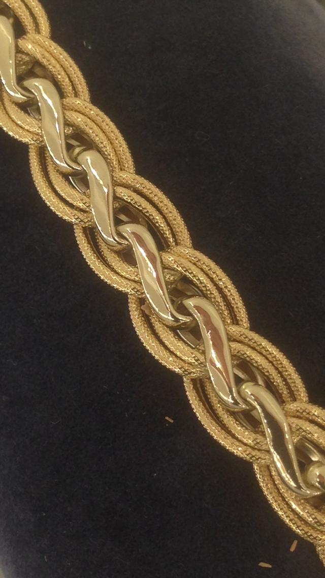 bracelet 2 ors sablé or 18 carats