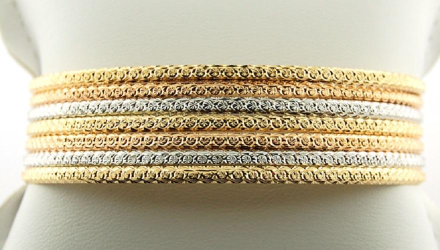 Bracelet Rigide Semainier Or 18 Carats