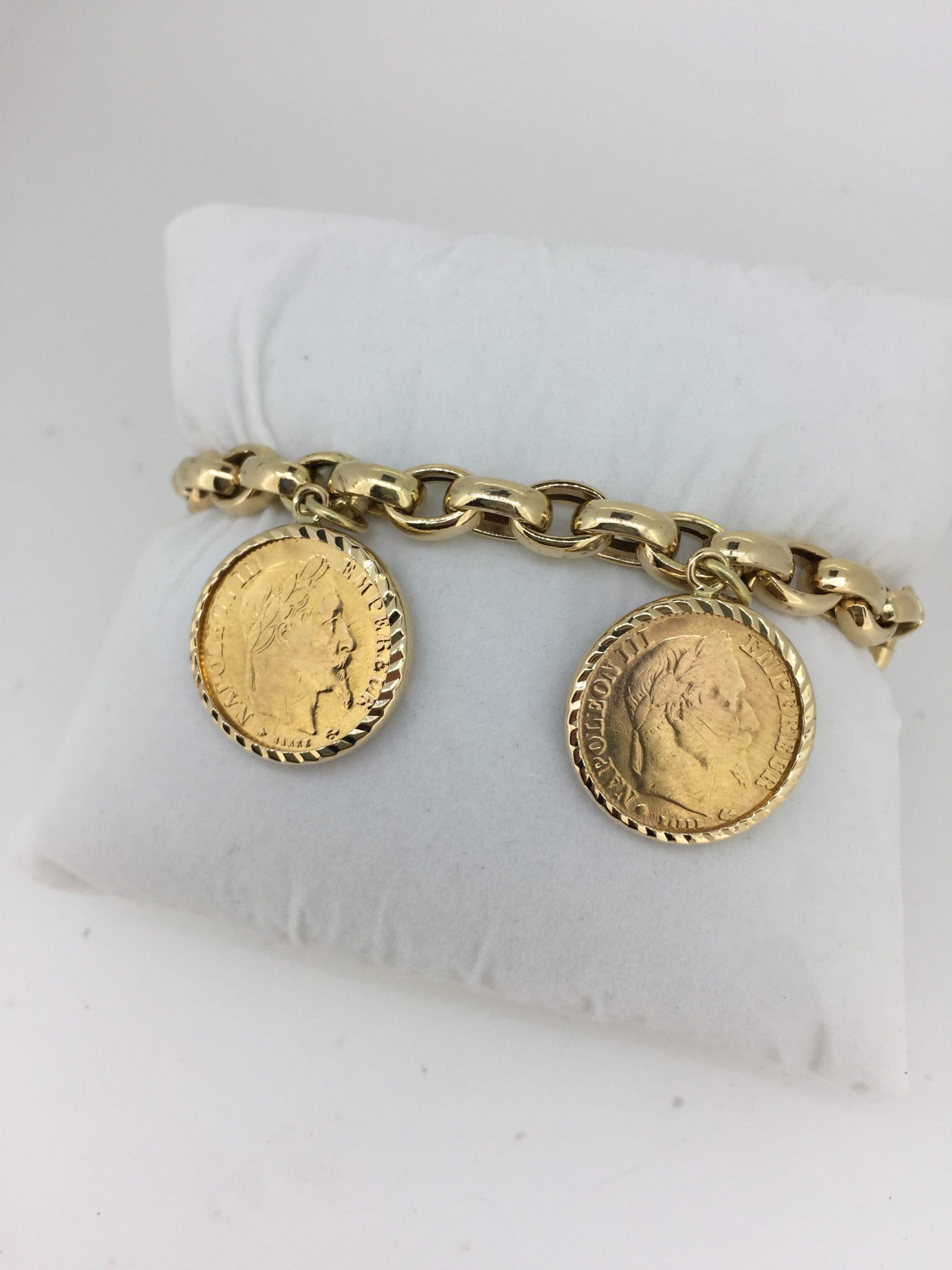 Bracelet Maille Jaseron En Or 18 Carats