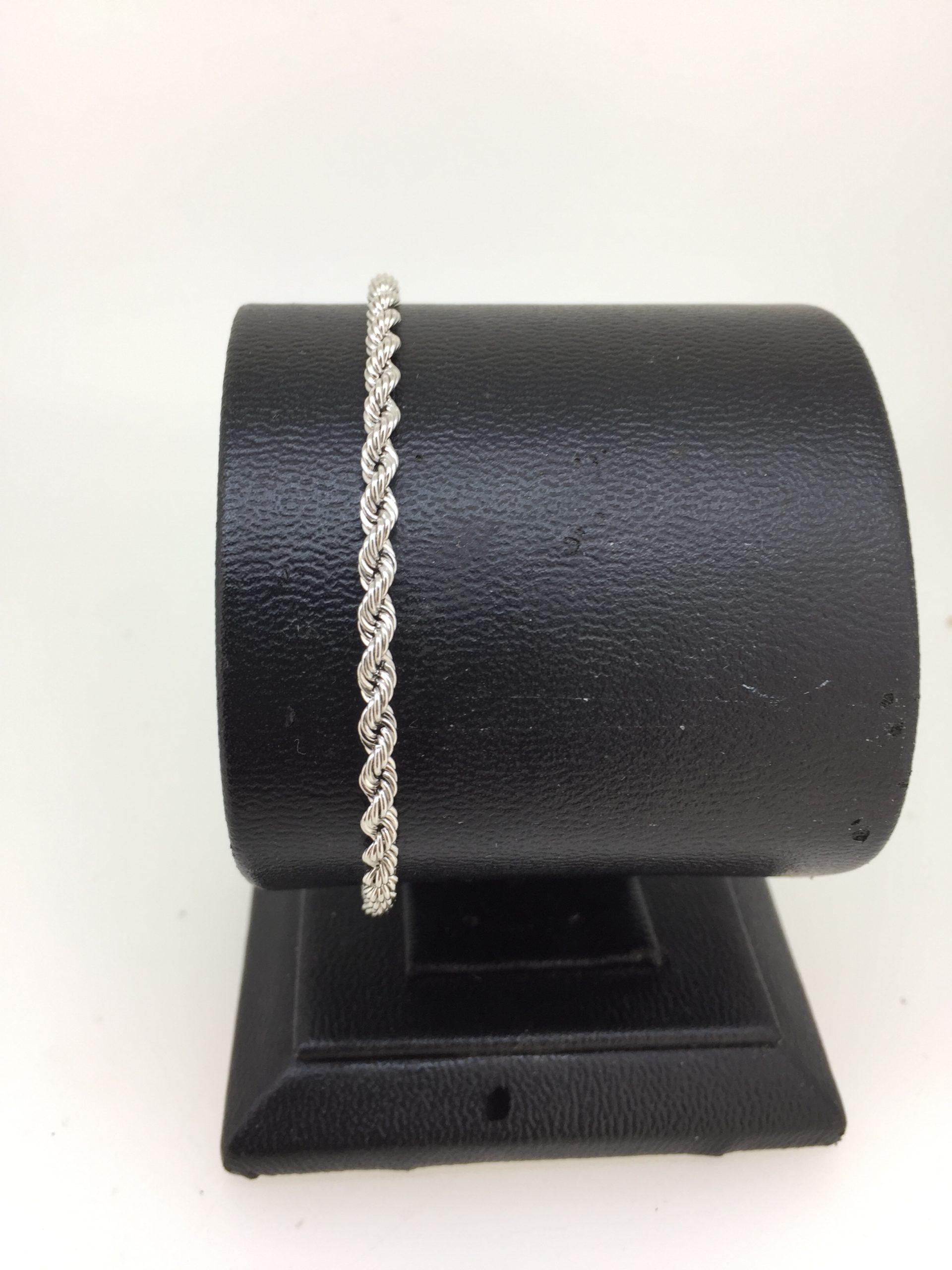 Bracelet Corde Or Blanc 18 Carats