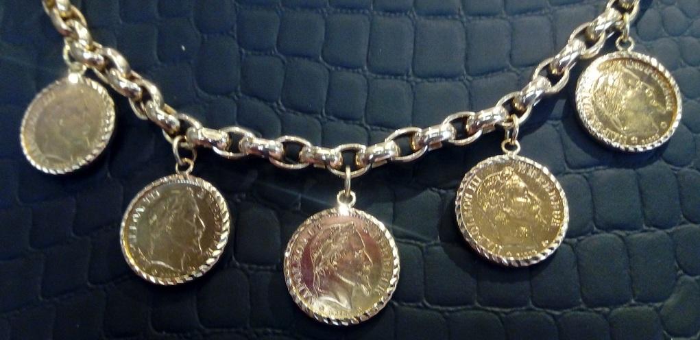 Bracelet Jaseron & 5 Porte Pièce 10 Frs