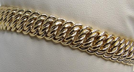 Bracelet Or 18 Carats Maille Américaine