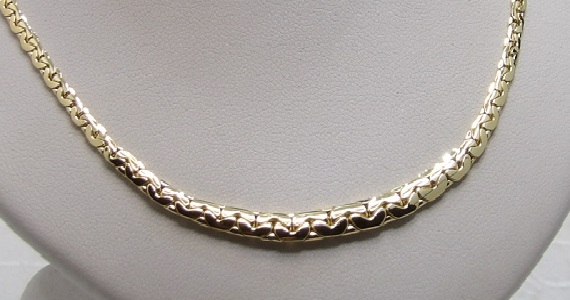 Collier Or 18 Carats Maille Haricot