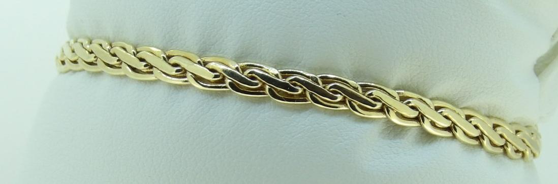 Bracelet Maille Haricot Frappé