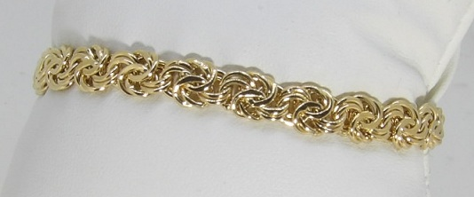 Bracelet Or 18 Carats Maille Royale