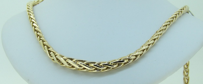 collier or 18 carats maille palmier bijouterie jouvenel