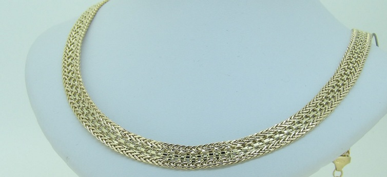 Collier Or 18 Carats Maille Polonaise