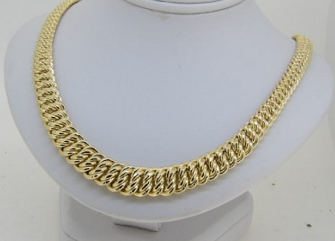 Collier Or 18 Carats Maille Américaine