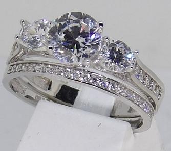 Bague et alliance duo or 18 carats et zirconium bijouterie jouvenel