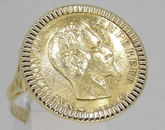 Bague Or 18 Carats Napoléon 10 Francs