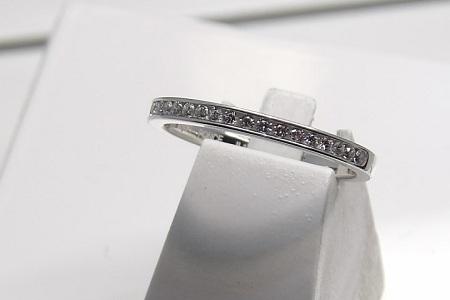 Alliance-or Blanc-18 Carats-diamants-bijouterie Jouvenel Roubaix