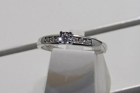 Bague En Or 18 Carats Et Diamants