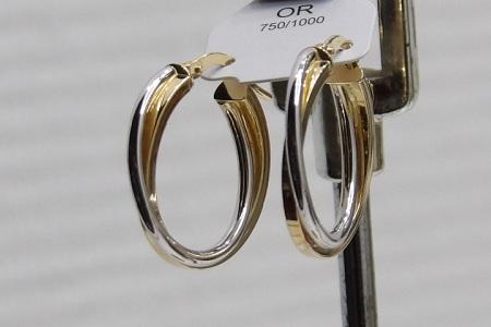 Boucles D'oreilles Or 18 Carats Créole